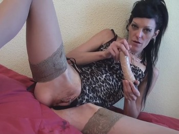 Double Vaginal Penetration. Carla Crosh and our Rubber Dildoes.